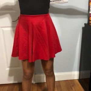 Red mini skirt with elastic.